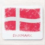 Grunge Denmark Flag Mouse Pads