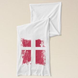 Grunge Denmark Flag Scarf
