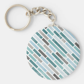 Grunge Diagonal Stripe Pattern Keychains