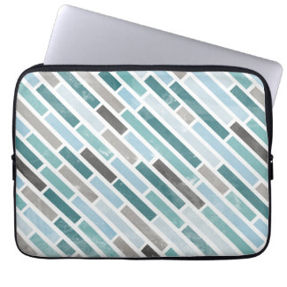 Grunge Diagonal Stripe Pattern Laptop Sleeve