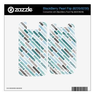 Grunge Diagonal Stripe Pattern BlackBerry Decal