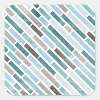 Grunge Diagonal Stripe Pattern Sticker