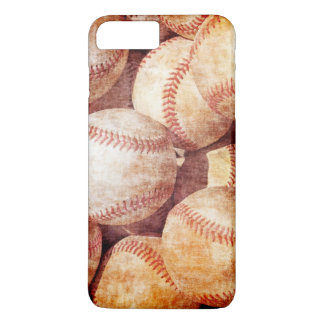 Grunge Dirty Vintage Worn Baseball Sport Balls iPhone 7 Plus Case