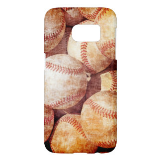 Grunge Dirty Vintage Worn Baseball Sport Balls Samsung Galaxy S7 Case