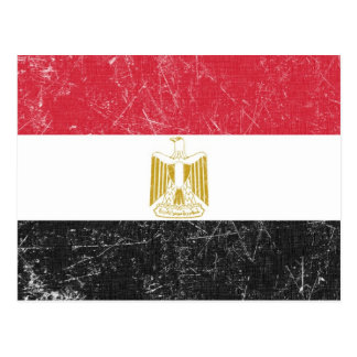 Grunge Distressed Egypt Flag Tees and GIfts Postcard