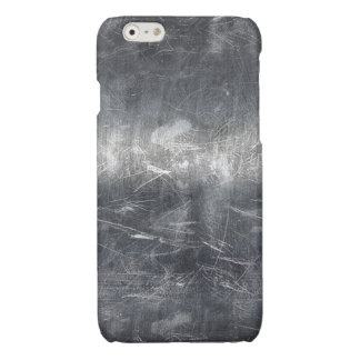 Grunge Distressed Mettalic Silver Texture Print Glossy iPhone 6 Case
