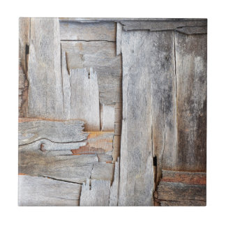 GRUNGE DISTRESSED WOOD TEXTURE.jpg Small Square Tile