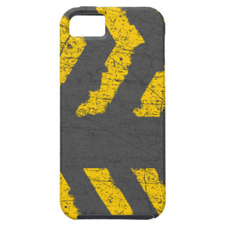 Grunge distressed yellow road marking iPhone SE/5/5s case