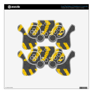 Grunge distressed yellow road marking skin for PS3 controller