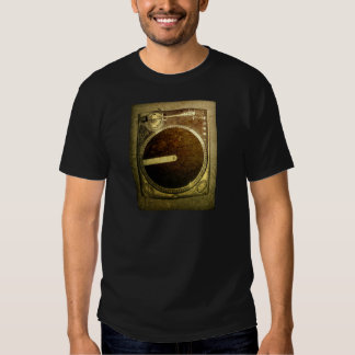 Grunge Dj Turntable Art T-Shirt