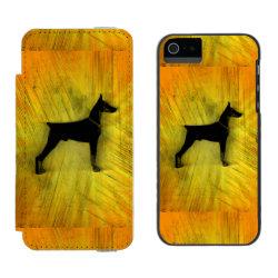 Incipio Watson™ iPhone 5/5s Wallet Case with Doberman Pinscher Phone Cases design
