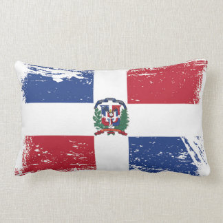 Grunge Dominican Republic Flag Throw Pillows