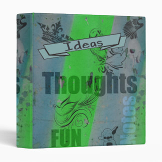 Grunge & Doodles  Thoughts, Notes Journal Binder