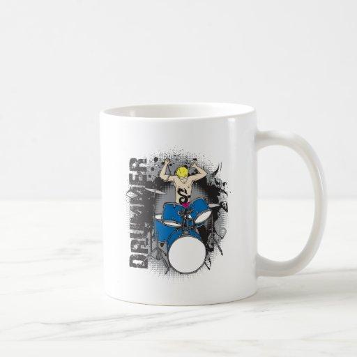 Grunge Drummer Coffee Mug