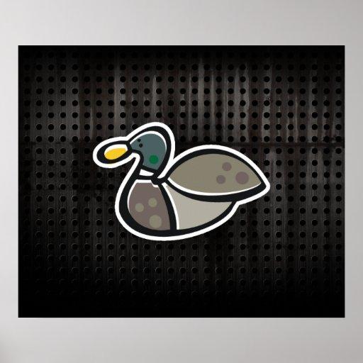 Grunge Duck Print
