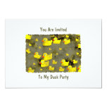 Grunge Ducks, You Are Invited, To My Duck Party 5x7 Paper Invitation Card