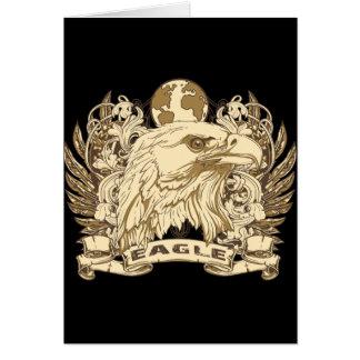 Grunge Eagle Card