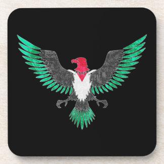 Grunge Eagle Palestine Flag Colors Beverage Coaster