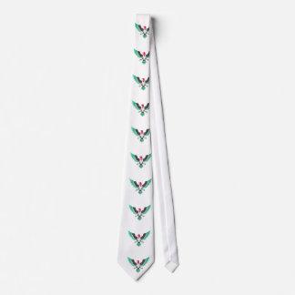 Grunge Eagle Palestine Flag Colors Neck Tie