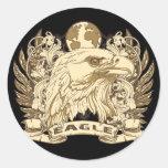 Grunge Eagle Pegatinas Redondas