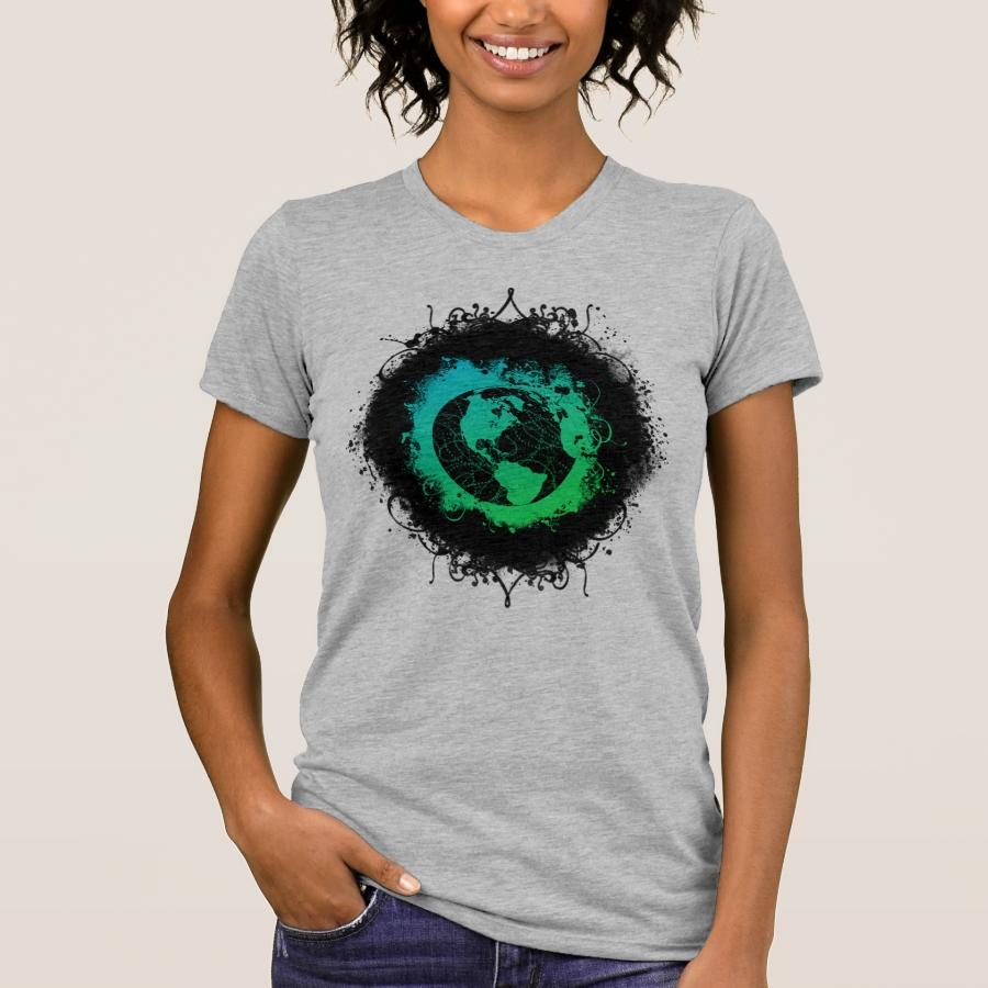 Grunge Earth Day T-Shirt - Best Selling Long-Sleeve Street Fashion Shirt Designs