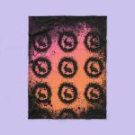 Grunge Easter Bunny Fleece Blanket