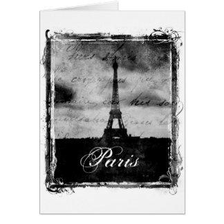 Grunge Edge Textured Paris Greeting Card