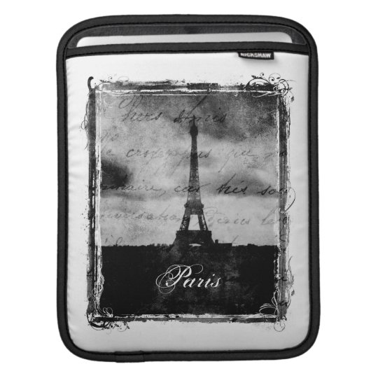 Grunge Edge Textured Paris iPad Sleeve