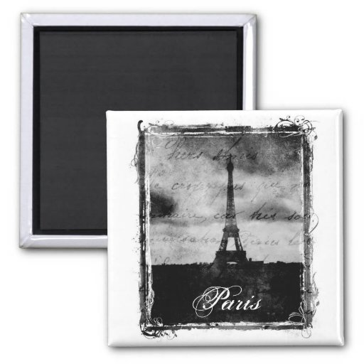 Grunge Edge Textured Paris Magnet