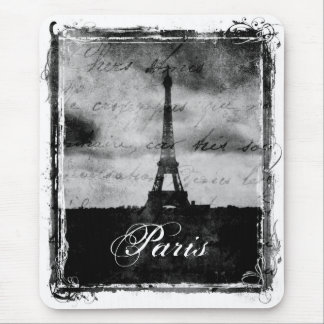 Grunge Edge Textured Paris Mouse Pad