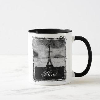 Grunge Edge Textured Paris Mug