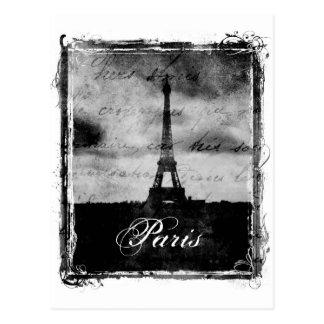 Grunge Edge Textured Paris Postcard