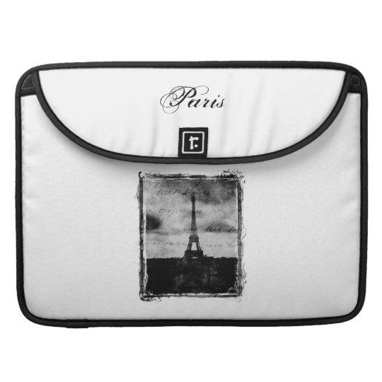 Grunge Edge Textured Paris Sleeve For MacBooks