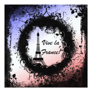 Grunge Eiffel Tower Invitation