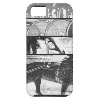 Grunge el competir con de arnés iPhone 5 Case-Mate protector