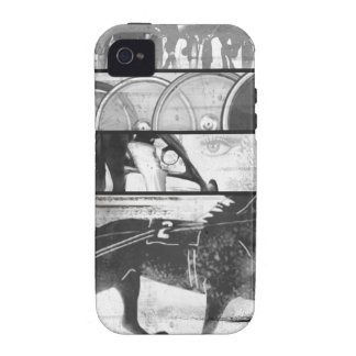 Grunge el competir con de arnés Case-Mate iPhone 4 carcasas
