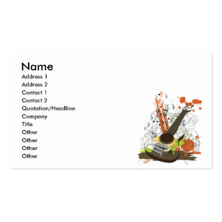 grunge electric guitar business card