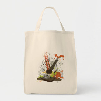 grunge electric guitar canvas bags