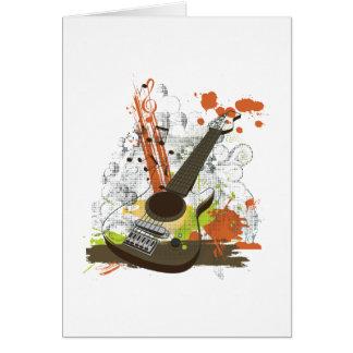 grunge electric guitar greeting cards