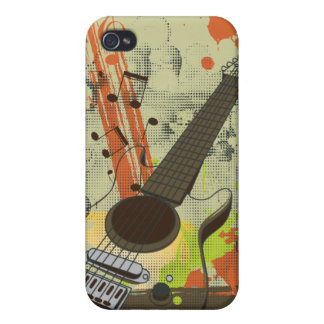 grunge electric guitar iPhone 4 case