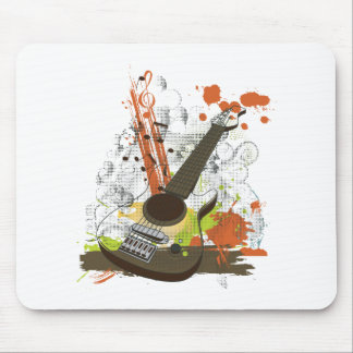 grunge electric guitar mouse pad