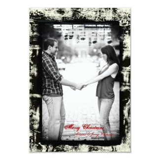 Grunge Electric Guitar Music Small Christmas Photo Card