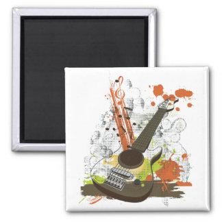 grunge electric guitar refrigerator magnets