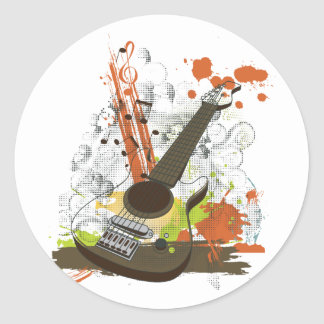grunge electric guitar stickers