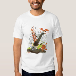 grunge electric guitar t-shirt