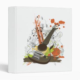 grunge electric guitar vinyl binders