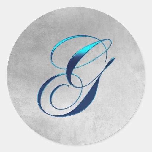 Grunge Elegant Monogram G Sticker