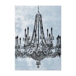 Grunge elegante del azul de la lámpara lona estirada galerías