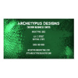 Grunge elegante - verde plantilla de tarjeta de visita