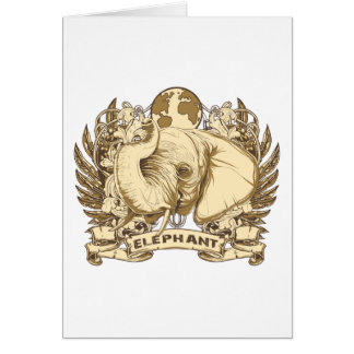 Grunge Elephant Card
